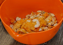 raw pumpkin in a bowl