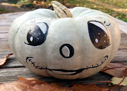 white painted pumpkin